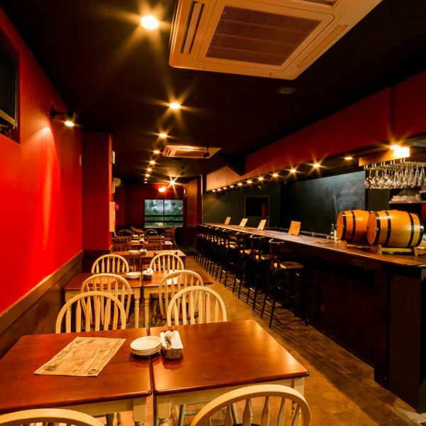 A 5-minute walk from Hachioji Station! A secret fashionable space filled with one.Various scenes from everyday use to reward dinner for yourself can be used for various scenes! Main dining is prepared with various spaces including counter and table seats, as well as private rooms and banquet rooms.