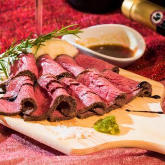 先到先得順序!任意吃【烤牛肉·牛肉Harami牛排】【全友暢飲2小時】7980日元⇒5980日元
