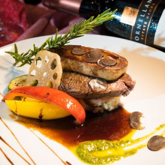 Beef fillet Rossini style ~ truffle sauce ~ 【3h raw drinks with all you can buy 12 items】 Platinum course 8980 yen ⇒ 6980 yen