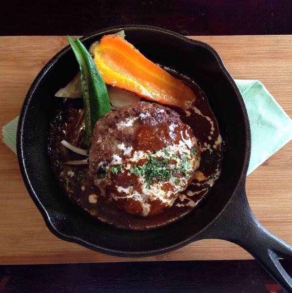 【県産】阿蘇赤牛100%ハンバーグステーキ
