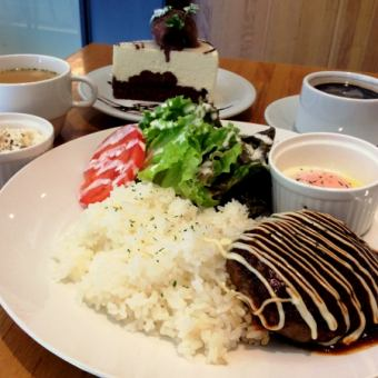 ☆ Dinner ☆ Main and drink & selection of cakes Night cafe set Normally 1750 yen → 1500 yen