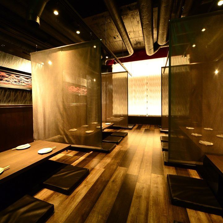 Private room equipped ◎ Up to 45 people OK! Even for large banquets ◎ Course 2980 yen ~