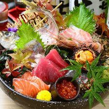"""11 - January"" 【3h all you can drink】 seven sashimi servings, charcoal grill etc 【Nagoya Cochin Course】 5980 yen ""All 9 items"""
