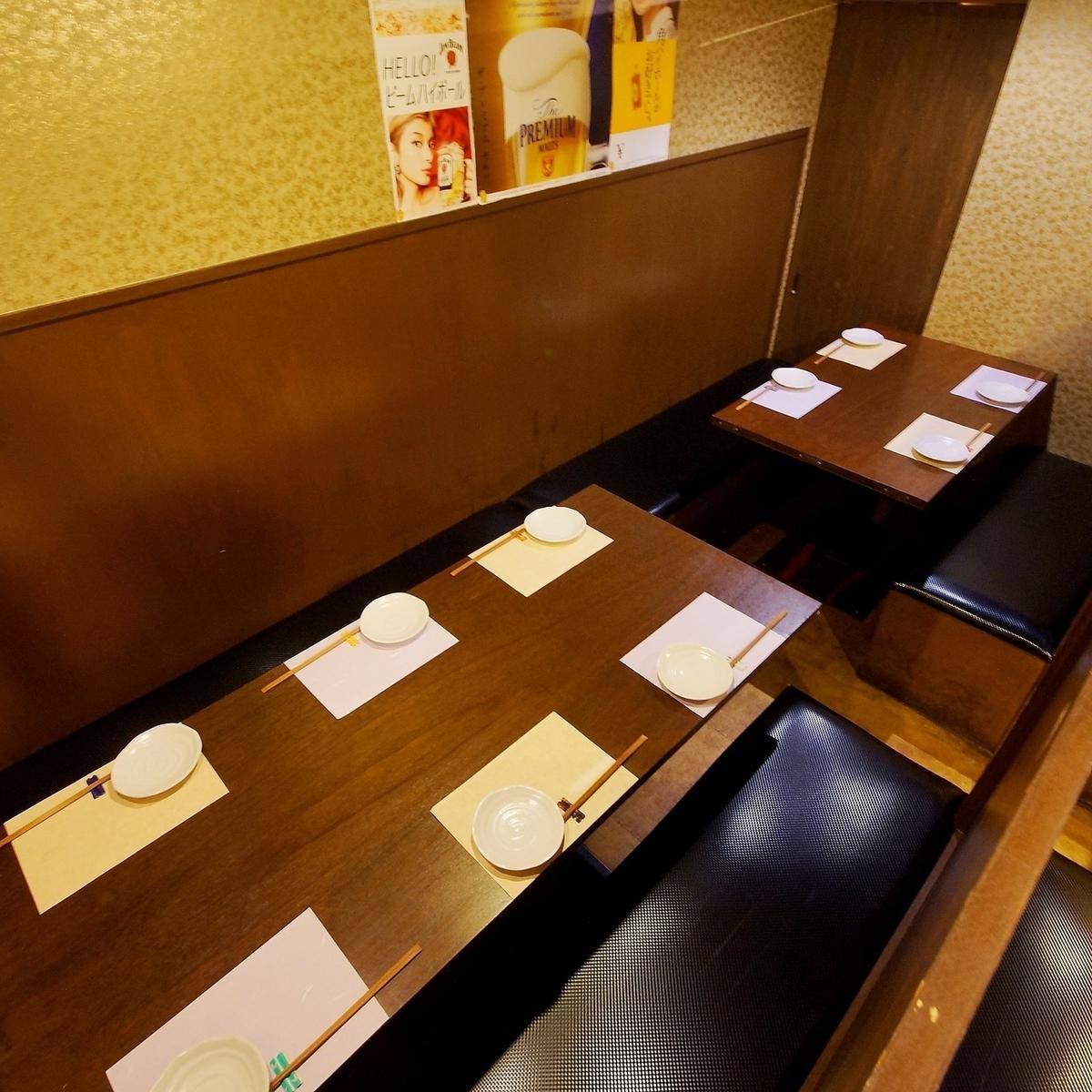 少人数~大人数までテーブル席を多数ご用意!