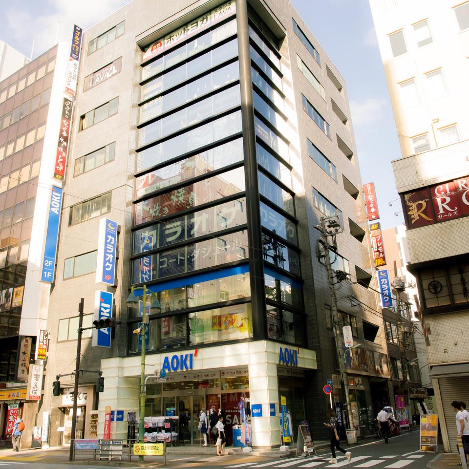 五反田站[西口]在目黑河5楼左侧的建筑物左侧步行2分钟★男装的AOKI大楼。★距离日商大学很近!