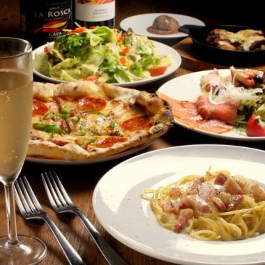 ●MIRA套餐★8道菜2.5小時無限暢飲3800日元(含稅)●優惠券更多優惠!