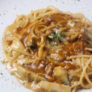 <Pasta>かつおの和風しょうがパスタ/秋ナスとキノコのデミグラスソースパスタ