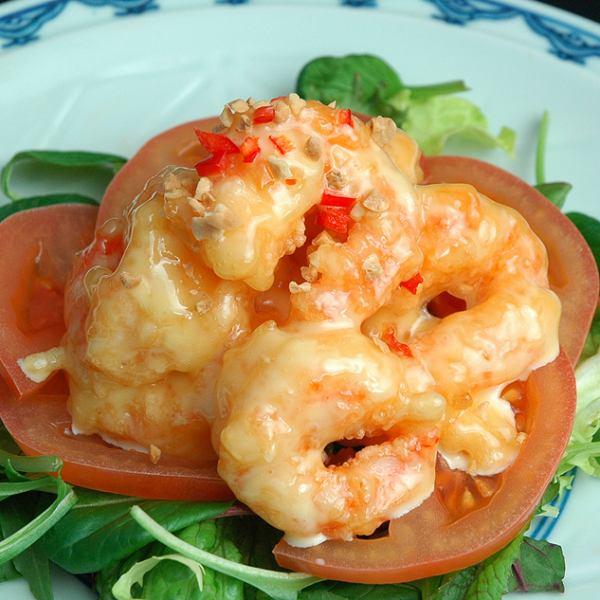 Fried shrimp mayonnaise source of