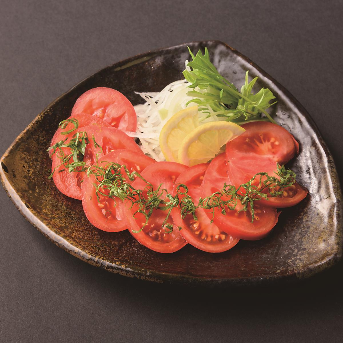 冷やしトマトのサラダ
