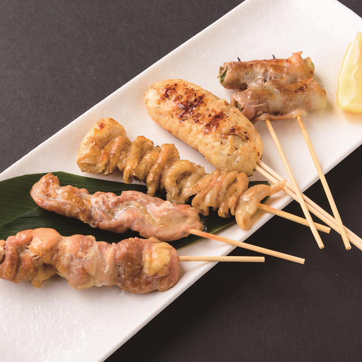 串焼き盛り合わせ~豚と鶏のお任せ~ 5本 塩・たれ