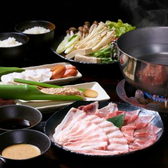 【Shabu-shabu】 Ah-do's hideout 120 minutes Banquet course with all-you-can-drink