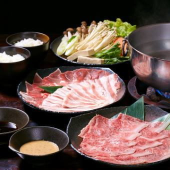 【Shabu Shabu】 Agu & Kuroge Wagyu beefu from the prefecture 120 minutes Banquet course with all you can drink