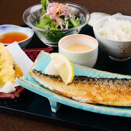 Toro mackerel culture dried (large) and Tenryu set meal