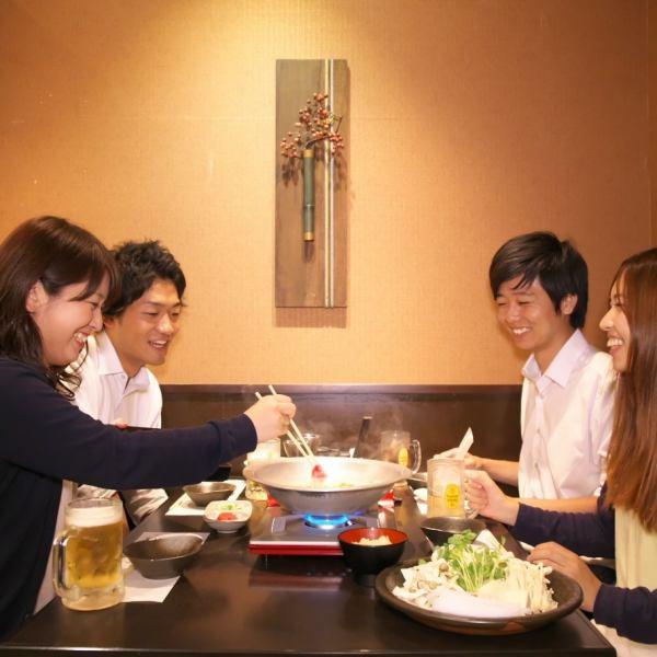 조화를 느끼는 개인 실은 접대 등의 접대에도 최적.자랑의 초밥과 각종 창작 요리, 엄선 된 술과 함께 휴식.