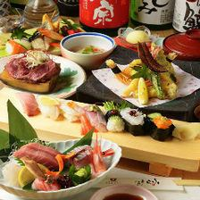 """New appearance"" Kanazawa direct delivery Sashimi Sushi! 2 hour Sake all 50 kinds Including drinks ★ Kaga hyakumaishose course 8000 yen ⇒ 6000 yen"