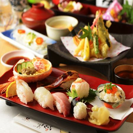 【For the year-end party!】 Sushi exhaustion course of the four seasons <Including festival! 50 kinds with sake> 120 minutes drinking> 9 items 6000 yen ⇒ 5000 yen
