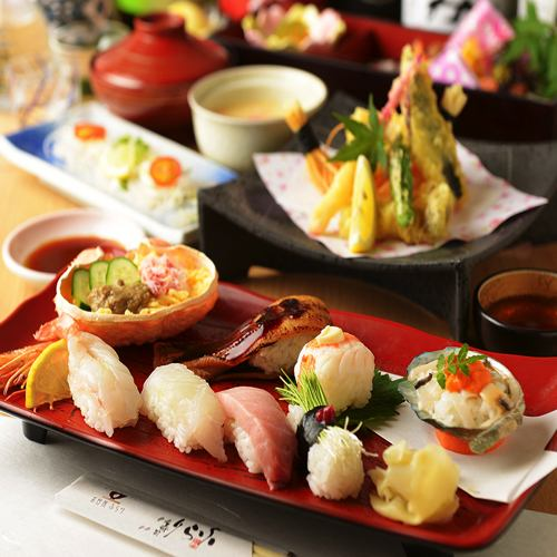 【New Year's party!】 Sushi exhaustion course of the four seasons <Including festival! Sake with 50 kinds of sake 120 minutes drinking> 9 items 6000 yen ⇒ 5000 yen
