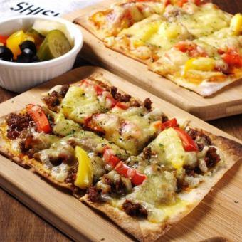 피자 마가리타 / 살라미 / 멸치