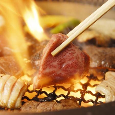 【影响价格!所有你可以吃烤肉90分钟/ LO.10分钟前)⇒1100日元(不含税)