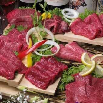 """4% miracle"" A5 rank Kuroge Wagyu Beef = Special companion red meat platter = 【Complete Booking】"