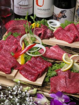 """""""4% miracle"""" A5 rank Kuroge Wagyu Beef = Special companion red meat platter = 【Complete Booking】"""