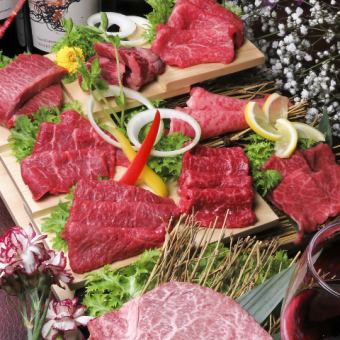 """4% miracle"" A5 rank black hair wagyu beef = = red meat platter assortment = 【complete booking】"