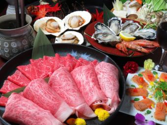 【Year End Party ☆ Special Sukiyaki Course】 Raw OK 60 or more [Drinks] All 10 items \ 8000 (tax included) / \ 10000 yen (tax included)