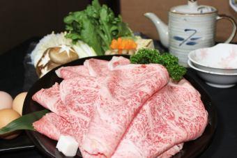 """特别选拔!A5级""""黑毛和牛牛肉服务""""×最高六只黑白猪涮锅""""星期一课程""""'\ 6000'"""