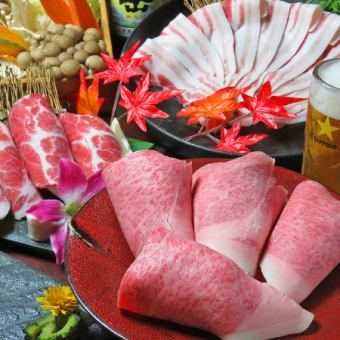 More than 60 kinds 2H [with drinking] attached 【Special selection !! Shimotsuki course 【\ 6000】 sukiyaki】
