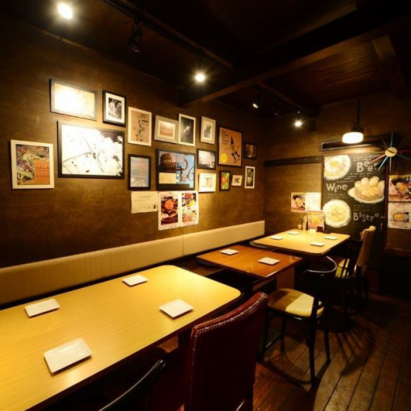 The stylish interior stuck to decoration etc. is outstanding and can be used for any scene.Perfect for drinking party / banquet use! We have prepared many courses with all you can drink, so please check it out.Course with unlimited drinks is 3500 yen ~ It is reasonably reasonable!