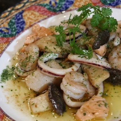 Butter saute of seafood and eringi