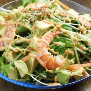 Shrimp and Avocado Chinese Mayosalada