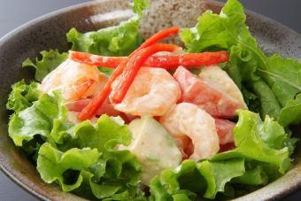 普里虾和鳄梨沙拉