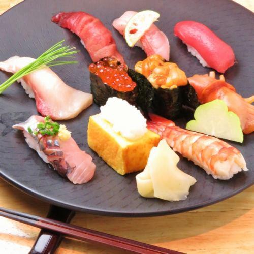 宴会でも握り寿司を堪能!