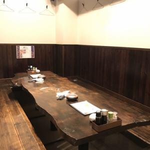 木のテーブルが印象的な掘りごたつ式の個室は、最大8名様までご利用頂けます。