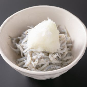 枝豆/かつおの酒盗/自家製いかの塩辛/釜揚げしらすおろし
