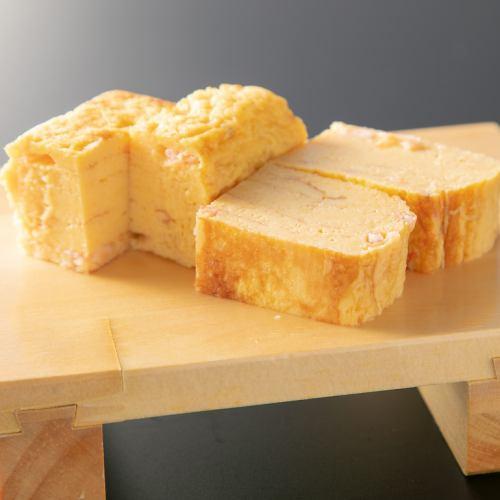 ザンギの茶碗蒸し/出汁玉子焼き(あさぎり玉子)/桜海老玉子焼き