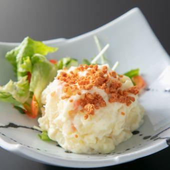 寿司屋のカニ風味サラダ/ベーコンポテトサラダ