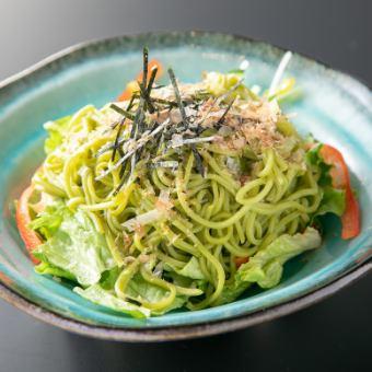 静岡豆腐茶そばサラダ