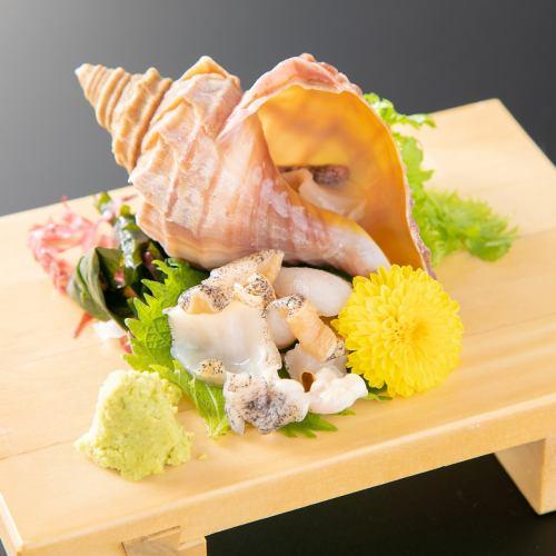 脂ぎんぽの薄造り/北海道殻がき/活き北寄貝/活きつぶ貝/活き帆立貝