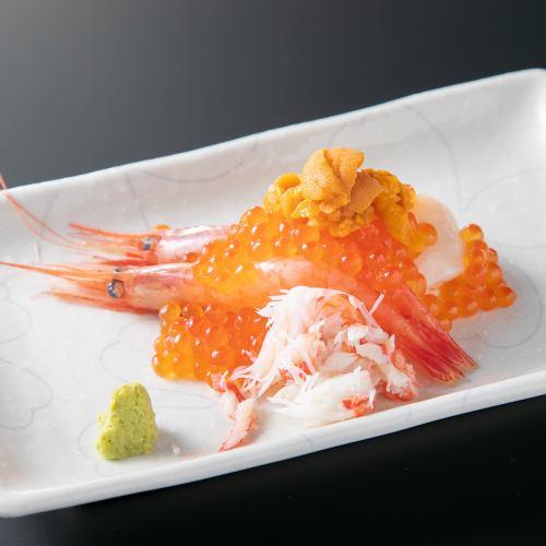 北海寿司盛り/カマとろ炙り寿司2貫