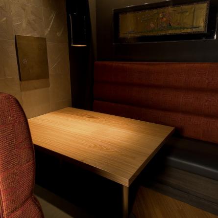 ソファー型の半個室。ゆったりとくつろぎたい方はこちらをどうぞ!
