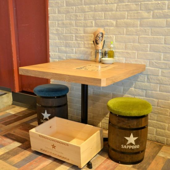 Various types of table seats ☆ There is a reputation for cuisine and dating is also ◎