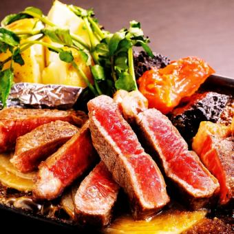 AU-produced short-length beef sirloin steak ~ grated and apple soy sauce with moromi mash miso butter ~ [250 g / 500 g]