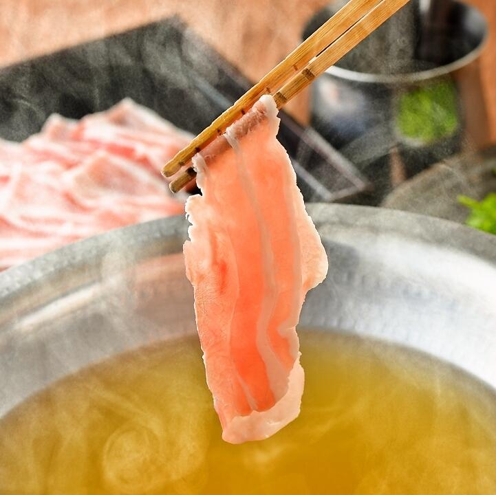 Shinshu kurin pig's shabu-shabu
