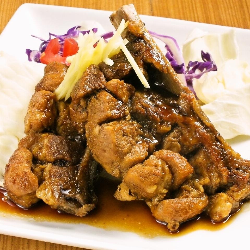Pork's spare rib ~ Special ginger sauce ~