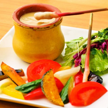 Fresh vegetables Bagna cauda