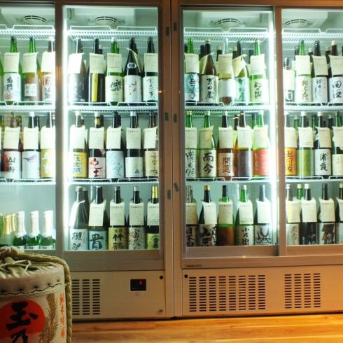 We have 47 prefectures of sake! Over 100 kinds in all, 500 yen uniformly provided! Funabashi's No 1 sake handled amount!