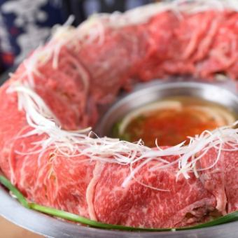 "Superb! ""Peony Course"" Kuroge Wagy Beef Meat Cooker Pot or Toro Meat Tower Pot All 9 Items 3 Hours with All-you-can-Drink 7,000 yen ⇒ 6,000 yen"
