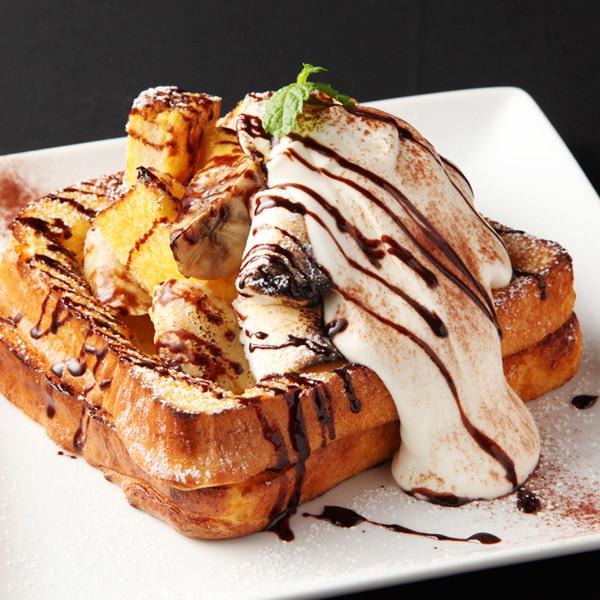 마시마로 바나나와 카라멜 프렌치 토스트